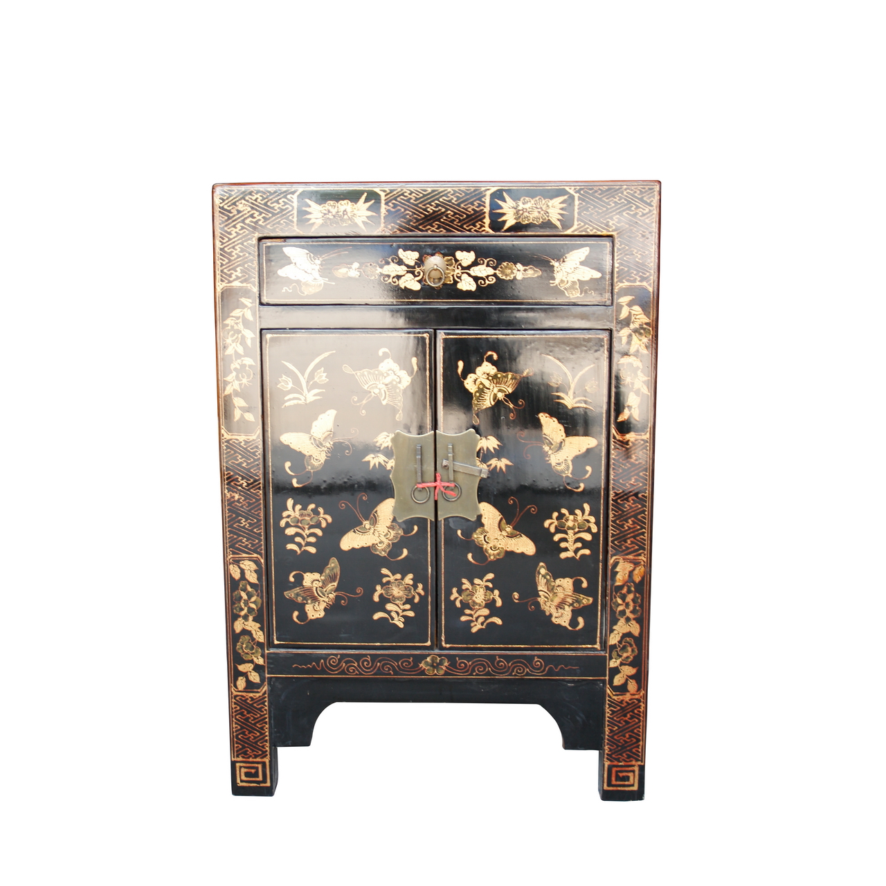 Chinese nachtkastjes 39 zwart 39 aziatische woonaccessoires - Table de chevet orientale ...